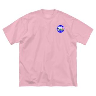 ガタgo 丸型 Big silhouette T-shirts