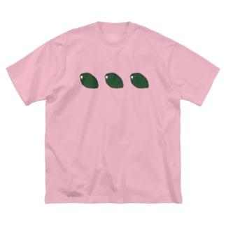 さざ石 Big silhouette T-shirts