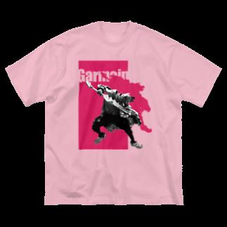 ギャネック屋 SUZURI店のジャンピングG Big silhouette T-shirts