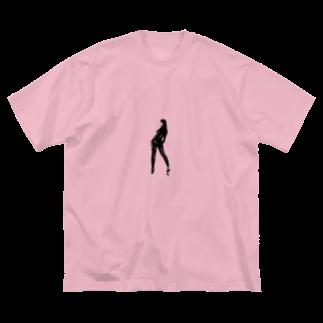 mowamowahitomiのきゃっとすーつ Big silhouette T-shirts