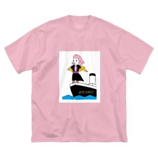 ブタイタニック Big silhouette T-shirts