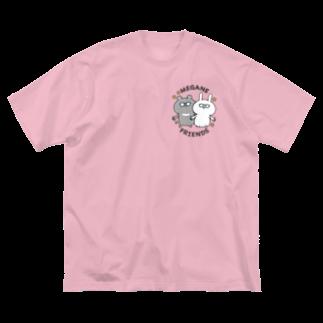 ユウィズのMEGANE FRIEND(小) Big silhouette T-shirts