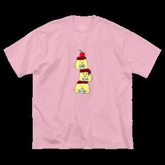 ekubostoreのトリオ・ザ・プリン 「ガンバ」 Big silhouette T-shirts
