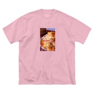 ぽてとさらだ〜明太チーズ〜 Big silhouette T-shirts