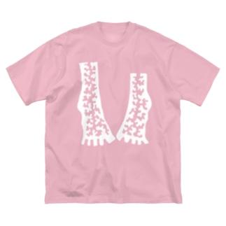 レストレス(白の肉) Big silhouette T-shirts