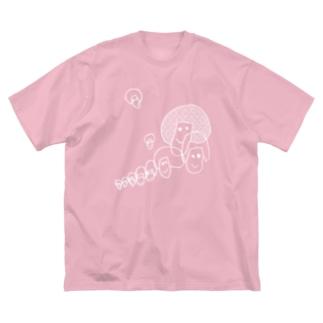 きのこぎん Big silhouette T-shirts