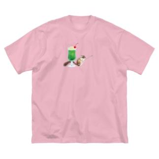 「クリームソーダはいかが?」-シマリスより- Big Silhouette T-Shirt