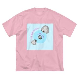 クリエイティブなおともだち Big silhouette T-shirts