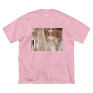 人形棚 Big silhouette T-shirts