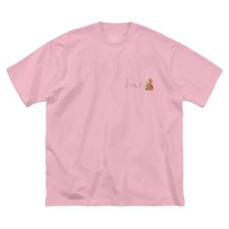 はる🦥🍵のはるぐっず Big silhouette T-shirts