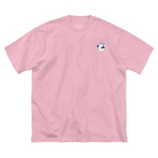 うきわ子犬マラミュート Big silhouette T-shirts