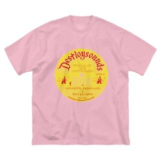 DESTROY SOUNDS Big silhouette T-shirts