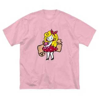 レトロガール Big silhouette T-shirts