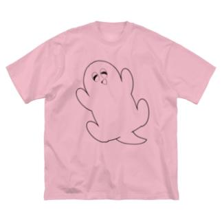 も~さん線画 Big silhouette T-shirts