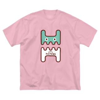 大うさぎロゴTEE 薄荷 Big silhouette T-shirts