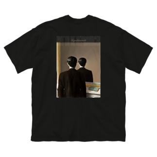 マグリット『不許複製』 Big silhouette T-shirts