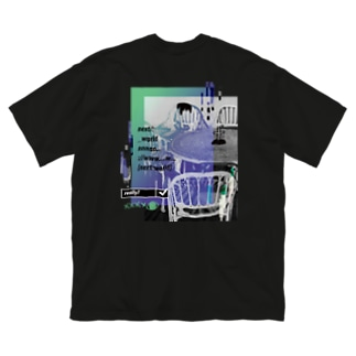 next world (両面) Big silhouette T-shirts