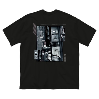 cell (両面) Big silhouette T-shirts