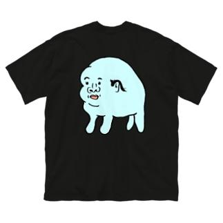 ハゲに抵抗する生き物背中にプリントバージョン Big silhouette T-shirts