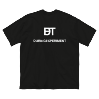 DURINGEXPERIMENTのDET-T-02 Big silhouette T-shirts