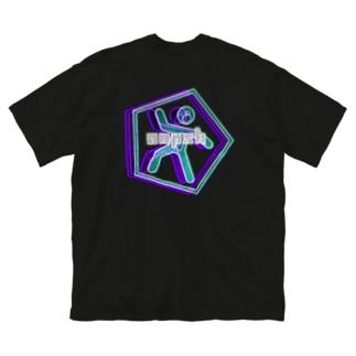 oopshロゴビックシルエットT Big silhouette T-shirts