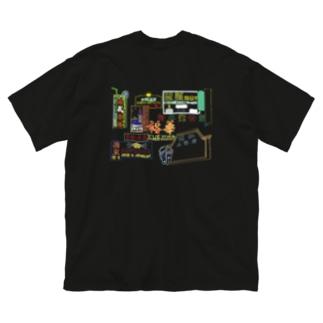 アナログネオン街 Big silhouette T-shirts
