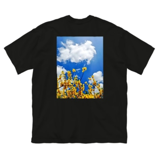 春の花 Big silhouette T-shirts
