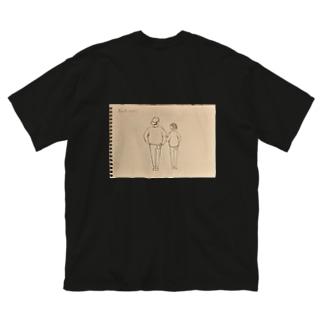 Enbby Back viewバックプリントTシャツ Big silhouette T-shirts
