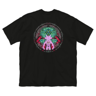 NWO-ニャンコワンコオオサワギ- Big silhouette T-shirts