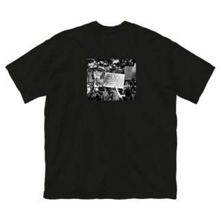 BLACK LIVES MATTER画像 Big silhouette T-shirts
