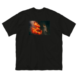 ゴメスのネオン2 Big silhouette T-shirts