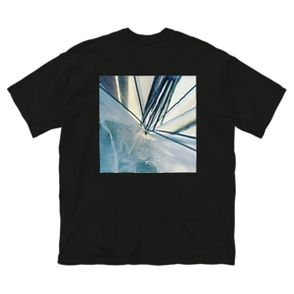 げんきもりもりのあめふらず Big silhouette T-shirts