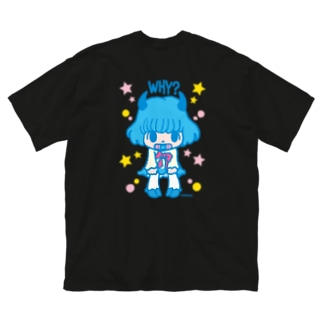 女の子 Big silhouette T-shirts