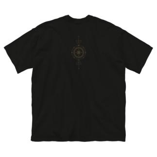 月+星(gold) Big silhouette T-shirts