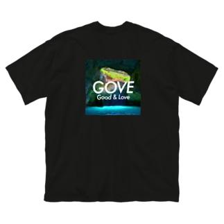 Blue Grotto square white logo Big silhouette T-shirts