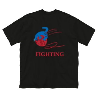 FIGHTING Big silhouette T-shirts