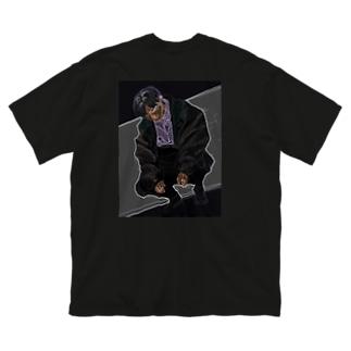 無 Big silhouette T-shirts