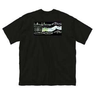 I/M/T/K/M スキー場お土産 Big silhouette T-shirts