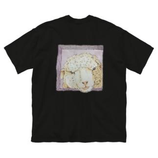 こちらをみている Big silhouette T-shirts