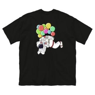 宇宙遊泳 バックプリント Big silhouette T-shirts