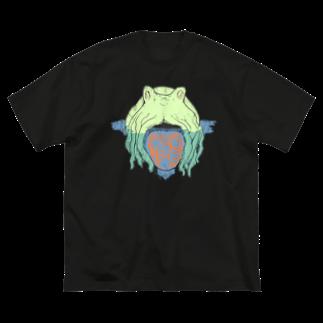 みせ in the SUZURIのタコTシャツ2 クラックバージョン Big silhouette T-shirts