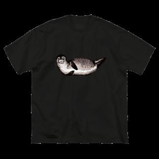 Dark blancoのアザラシ Big silhouette T-shirts