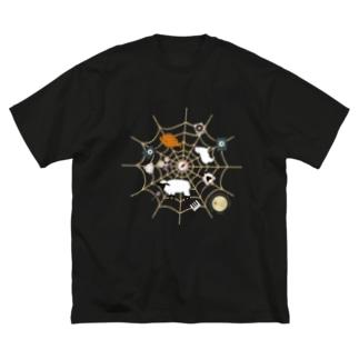 Spiderwebでべらと羊 Big silhouette T-shirts