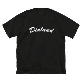 TEAM DIALAND WHITE Big silhouette T-shirts