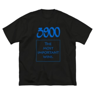POINTS - 3900 Blue Big silhouette T-shirts