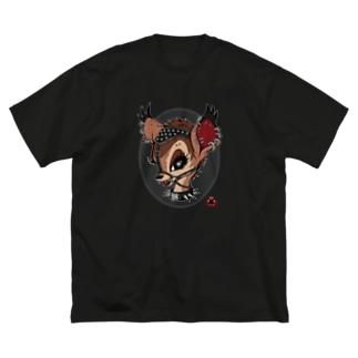 口枷バンビ Big silhouette T-shirts
