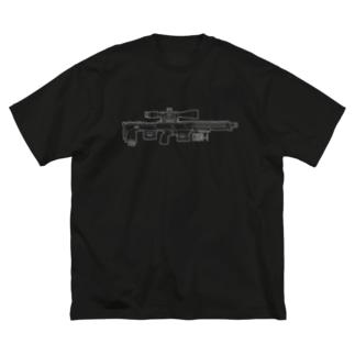 スナイパーライフル(白) Big silhouette T-shirts