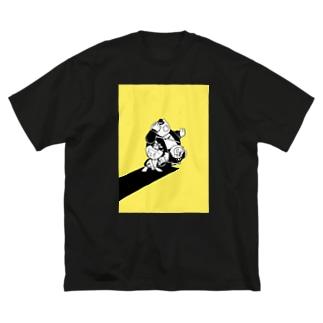 3shot Big silhouette T-shirts