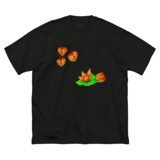 ホオズキ Big silhouette T-shirts