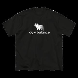 牛のTシャツ屋のcow balance Big silhouette T-shirts
